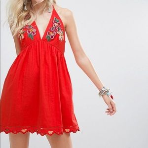 Free People Love and Flowers Coral Dress NWT SizeL